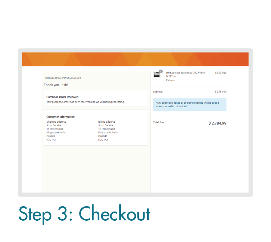 Placing an Order Online: Step 3