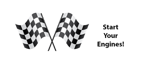 Start your engines - race flag