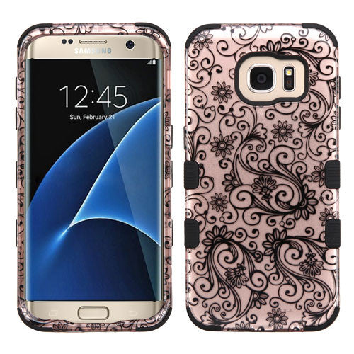 Samsung Galaxy S7 Edge Four Leaf Clover Rose Gold Tuff case, Dial n Style