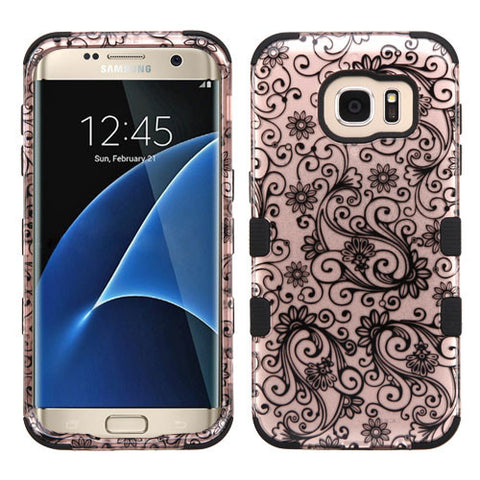 Galaxy S7 Edge Four Leaf Clover Rose Gold Case