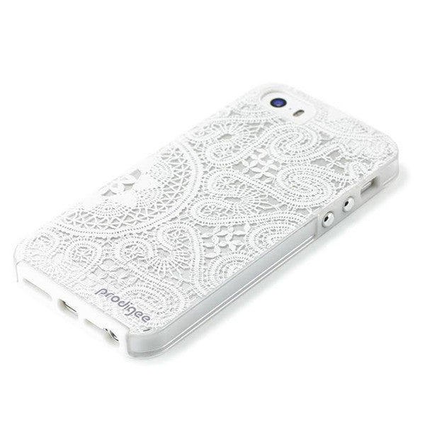 Prodigee iPhone SE/5/5S White Lace Case, Dial-n-Style
