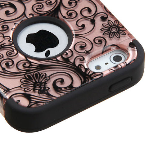 iPhone SE/5/5S Four Leaf Clover Rose Gold Case