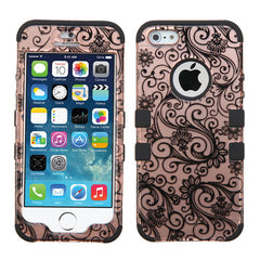 iPhone 5S-SE Four Leaf Clover Rose Gold Case Tuff, Dial n Style