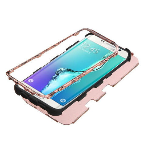 Galaxy S6 Edge Plus Four Leaf Clover Rose Gold