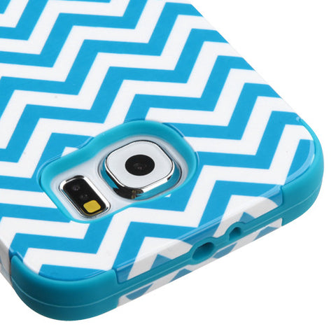 Galaxy S6 Teal Chevron Case