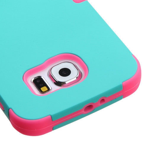 Galaxy S6 Teal Tuff Case, Dial N Style