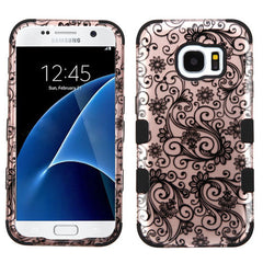 Samsung Galaxy S7 Four Leaf Clover Rose Gold case, Dial n Style