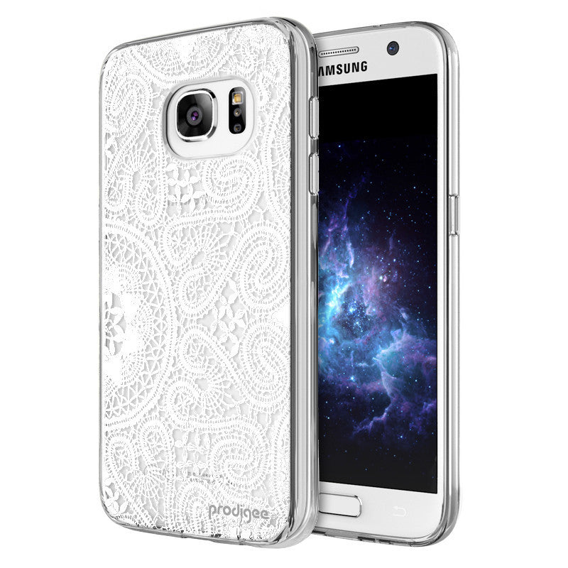 Prodigee Scene White Lace Cover, Galaxy S7, Dial n Style