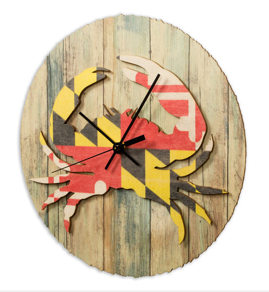 Maryland Flag Crab Clock