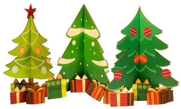 birch Holiday Tree Medium (set of 3)