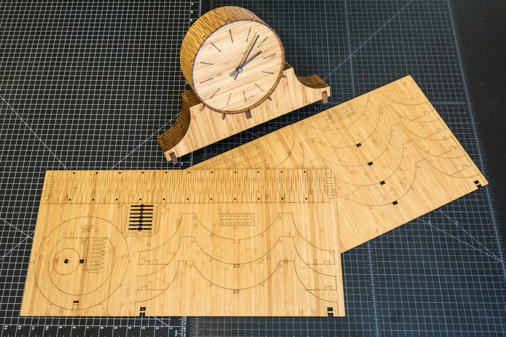 Living Hinge Mantel Clock