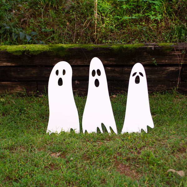 Ghost Lawn Decorations (Set of 3)
