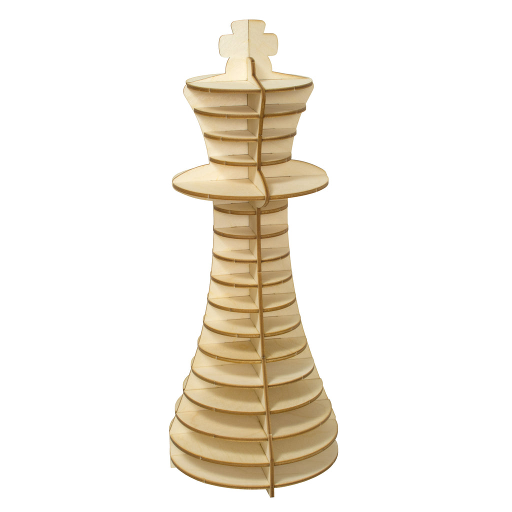 Wood King Chess Piece
