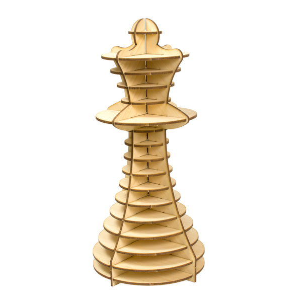 Wood Queen Chess Piece