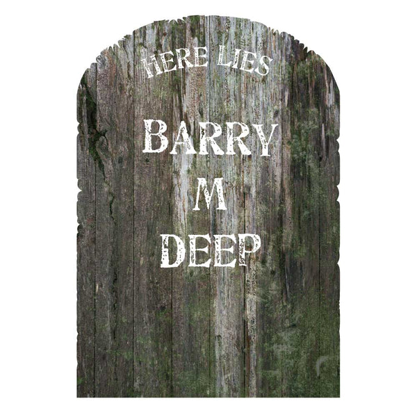 Wooden Tombstone Lawn Decorations (Set of 3)