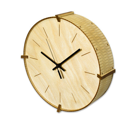 Living Hinge Wall Clock