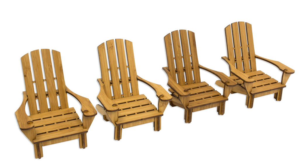 Adirondack Chair Coaster (Set of Four)