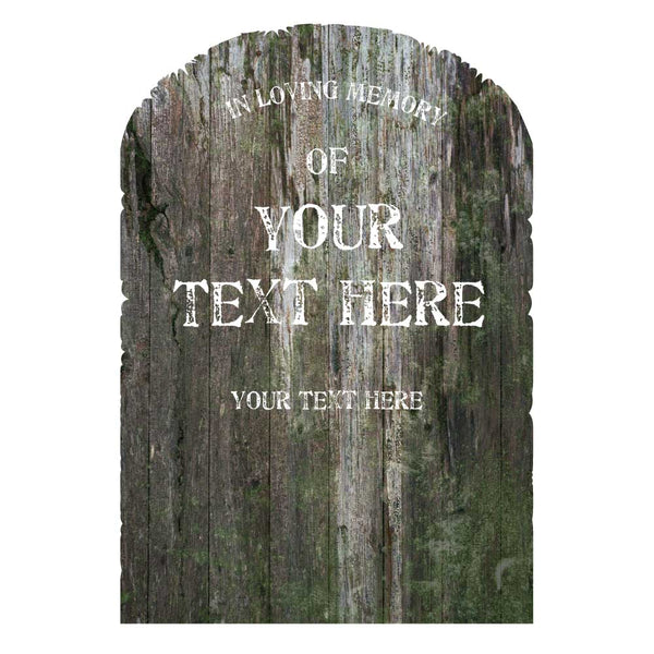 Wooden Tombstone Lawn Decorations Custom Text