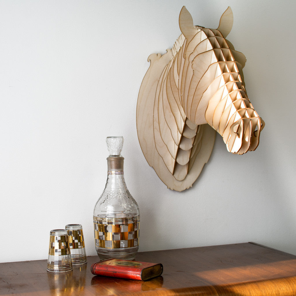 Pippin the Birch Wood Horse Head
