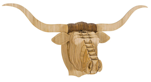 Tex the Bamboo Longhorn Head