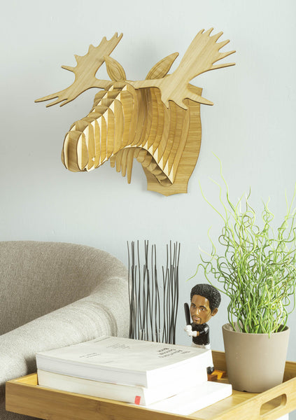 Fred the Bamboo Moose Head