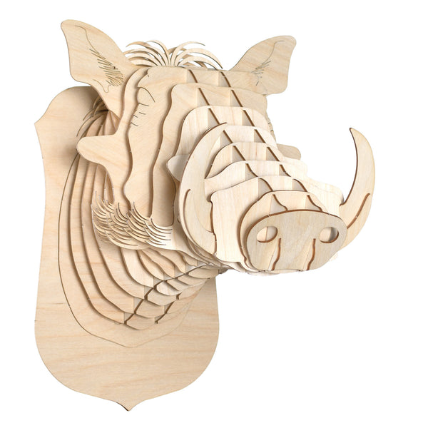 Winston the Birch Wood Warthog Head