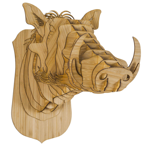 Winston the Bamboo Warthog Head