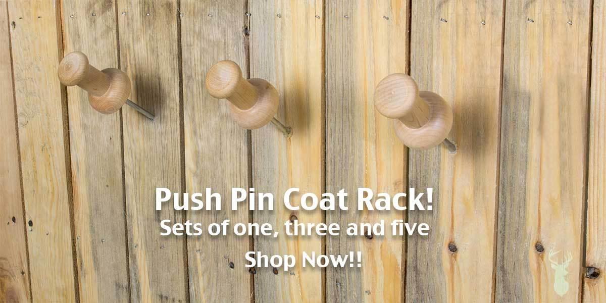 push pin coat rack