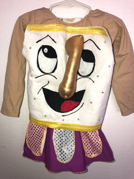"""Chip Cup"" from Beauty and the Beast Skating Dress/Costume -- Child XS"