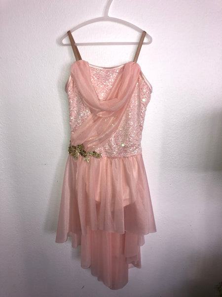 Light Peach Skating Dress