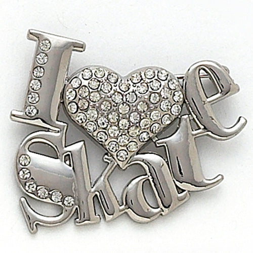 Dasha Designs - I Love Skate Pin - NEW