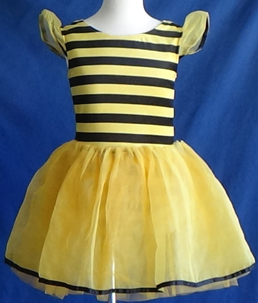Skating Dress/Costume - Bee Stripes - Pre Owned/Very Good Condition - Child Size 7-8