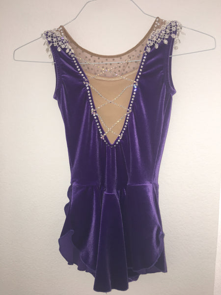 Sharene Skatewear Dark Purple Skating Dress - Child Size Large
