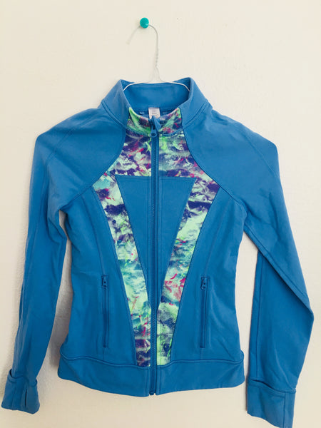 Ivivva Perfect Your Practice Jacket -- Medium Blue