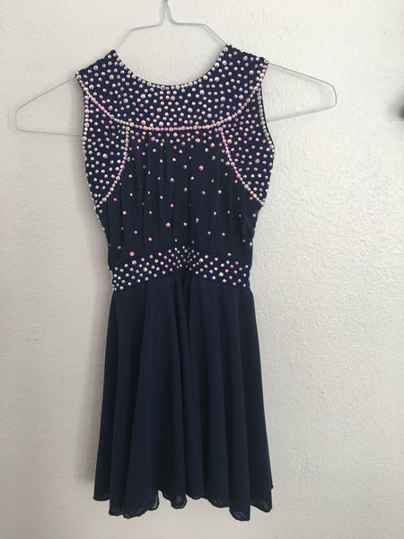 Navy Blue Skating Dress