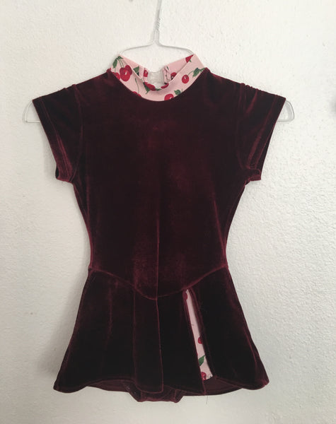 Practice Dress -- Dark Red Velvet