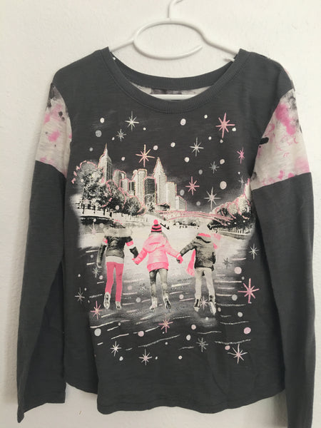 Justice Brand Long Sleeved Ice Skating Shirt