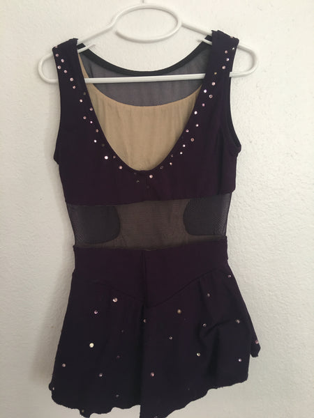 Custom Made Dark Purple Skating Dress