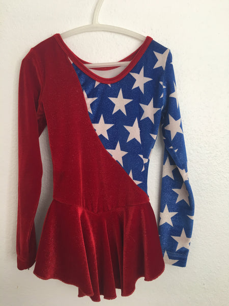Red, White, and Blue Skating Dress