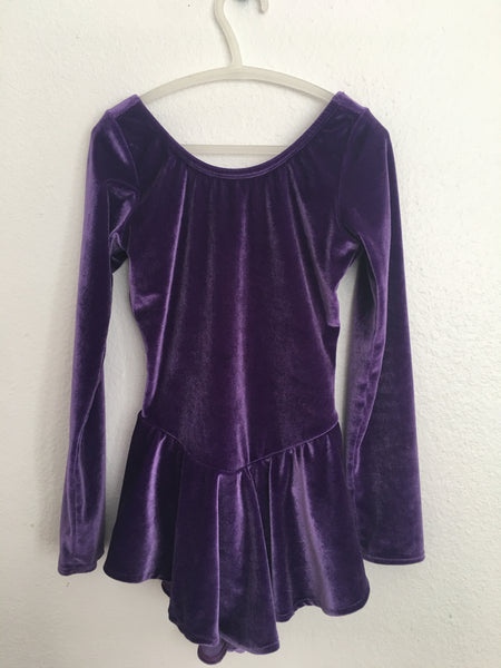 Dark Purple Skating Practice Dress