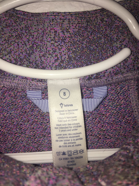 Ivivva Perfect Your Practice Jacket -- Light Purple -- Child Size 8
