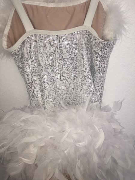 White Sequined Fur Costume