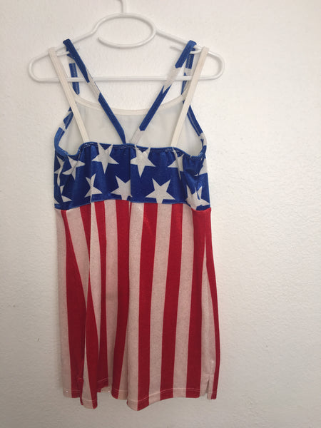 Red, White, and Blue Shorts Unitard
