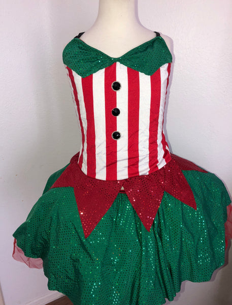 """Santa's Elf"" Dress/Costume"