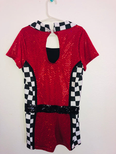 Race Car Driver Shorts Unitard/Costume -- Child Size Large