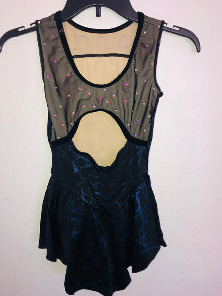 Dark Blue Sleeveless Skating Dress -- Child Size 8