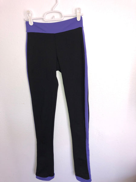 Chloe Noel Black and Purple Skating Pants