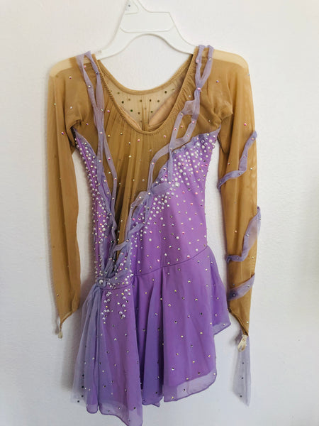 Purple Skating Dress -- Size Adult Small