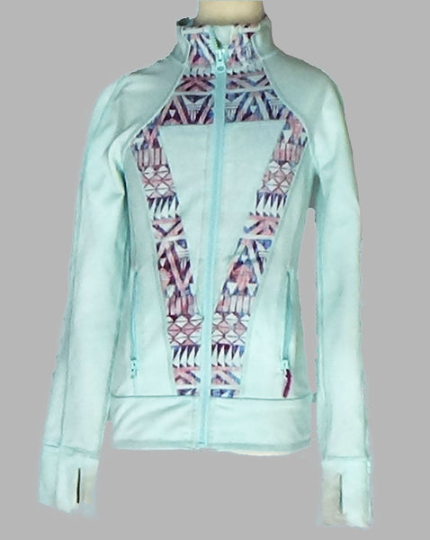 Ivivva Perfect Your Practice Jacket -- Ice Blue -- Size 7 -- Used