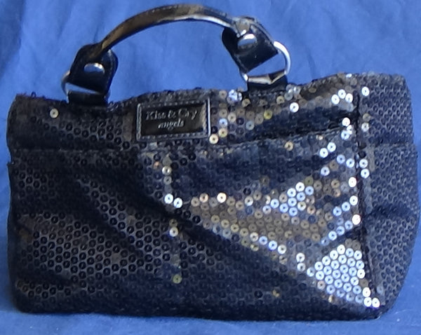 Black Sequined Kiss and Cry Bag